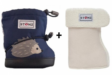 Stonz Toddler Booties (str M-L) Hedgehog + Liners