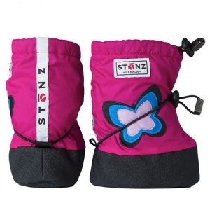 Stonz Toddler Booties (str L) - Butterfly Pink