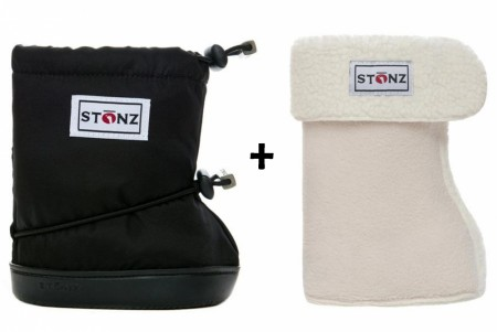 Stonz Toddler Booties (str M-L) Black + Liners