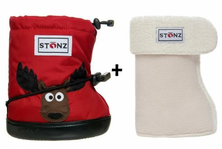 Stonz Toddler Booties (str M-L) Moose + Liners