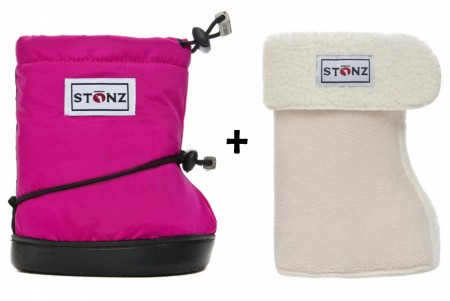 Stonz Toddler Booties (str M-L) Fuchsia + Liners