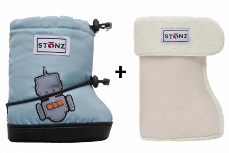 Stonz Toddler Booties (str M-L) Robot + Liners