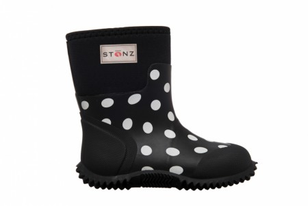 Stonz The West - Neoprenstøvler - Polka Dot - Black & White - FORHÅNDSBESTILLING - KOMMER SNART