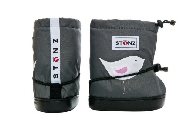 Stonz booties bird Grey par